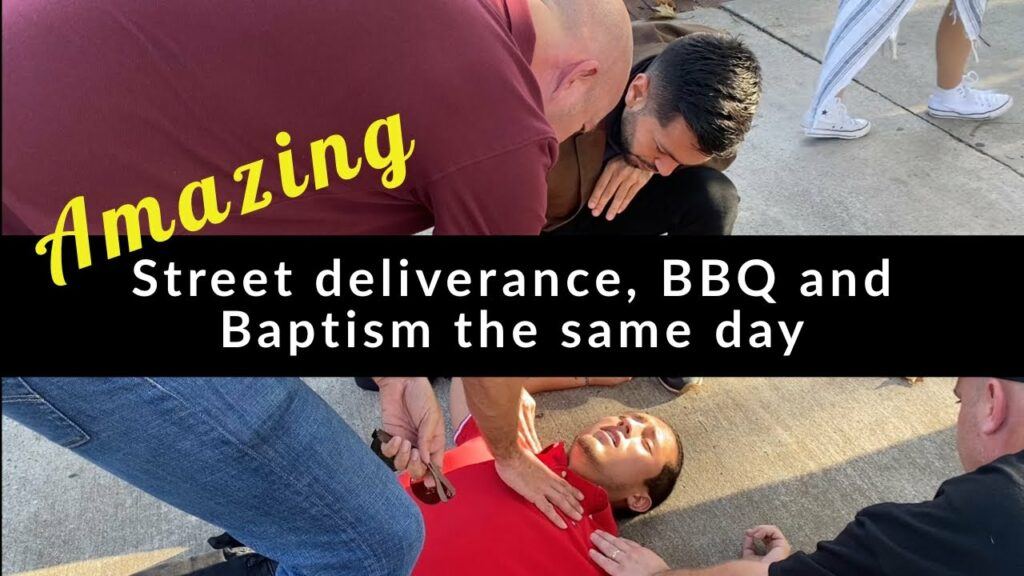 Amazing – Street deliverance, BBQ and Baptism the same day