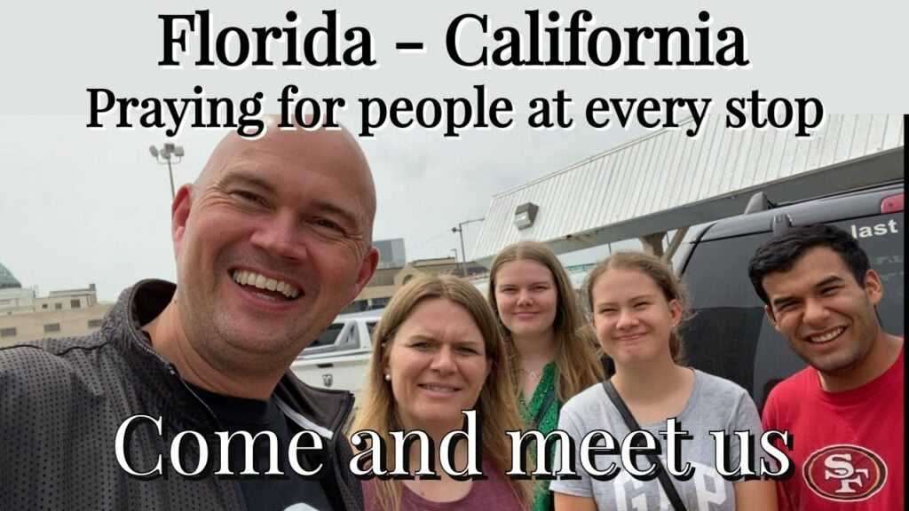FROM FLORIDA TO CALIFORNIA – PRAYING FOR PEOPLE AT EVERY STOP – WATCH TO THE END – PASTOR GETS….