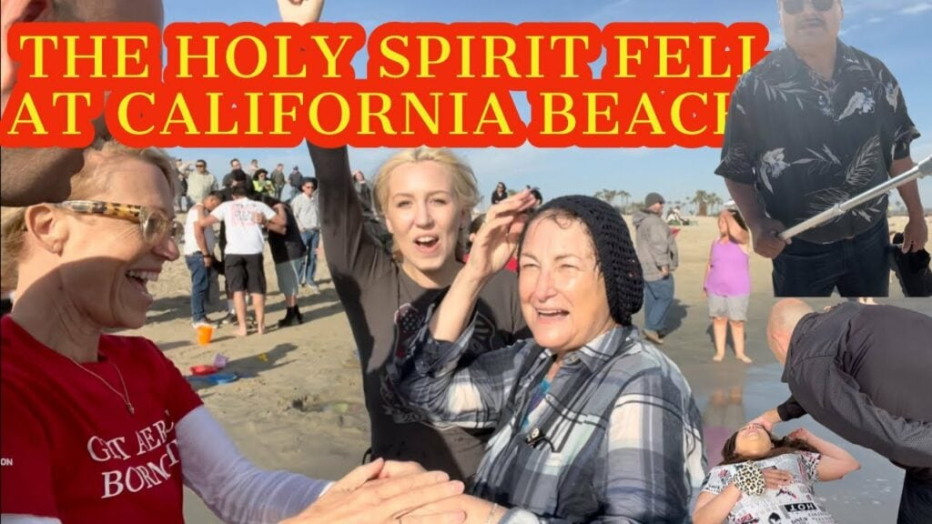 THE HOLY SPIRIT FELL AT CALIFORNIA BEACH! – POWERFUL VIDEO – JUST LIKE THE BOOK OF ACTS 🙏🙏
