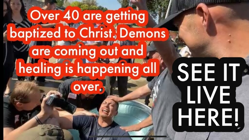Over 40 are getting baptized. Demons are coming out and healing is happening… SEE IT LIVE HERE!
