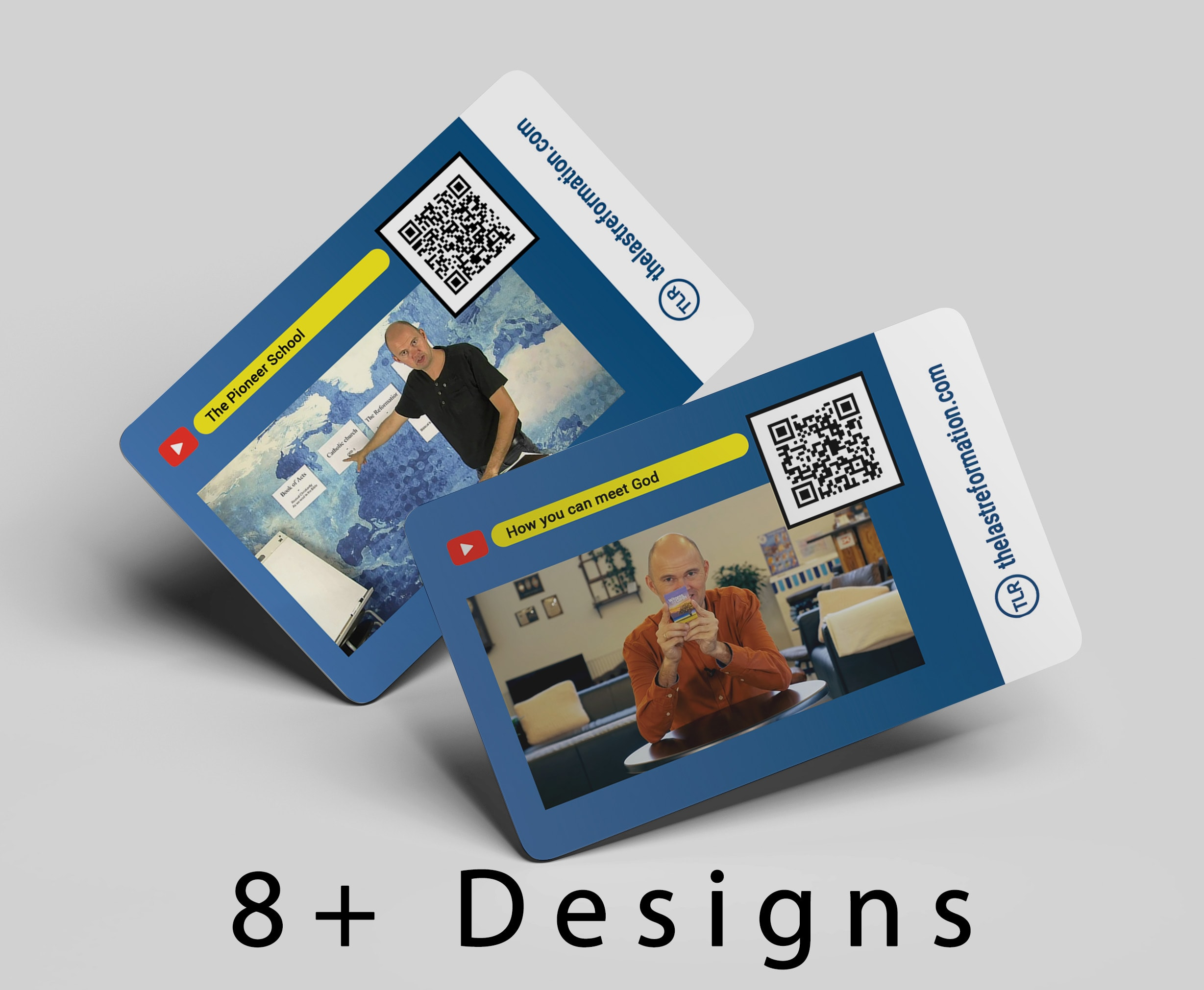 youtube videos business cards