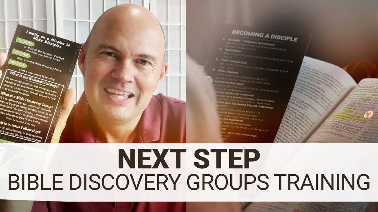 ONE…TWO…THREE… INTRODUCTION TO THE BIBLE DISCOVERY GROUPS!