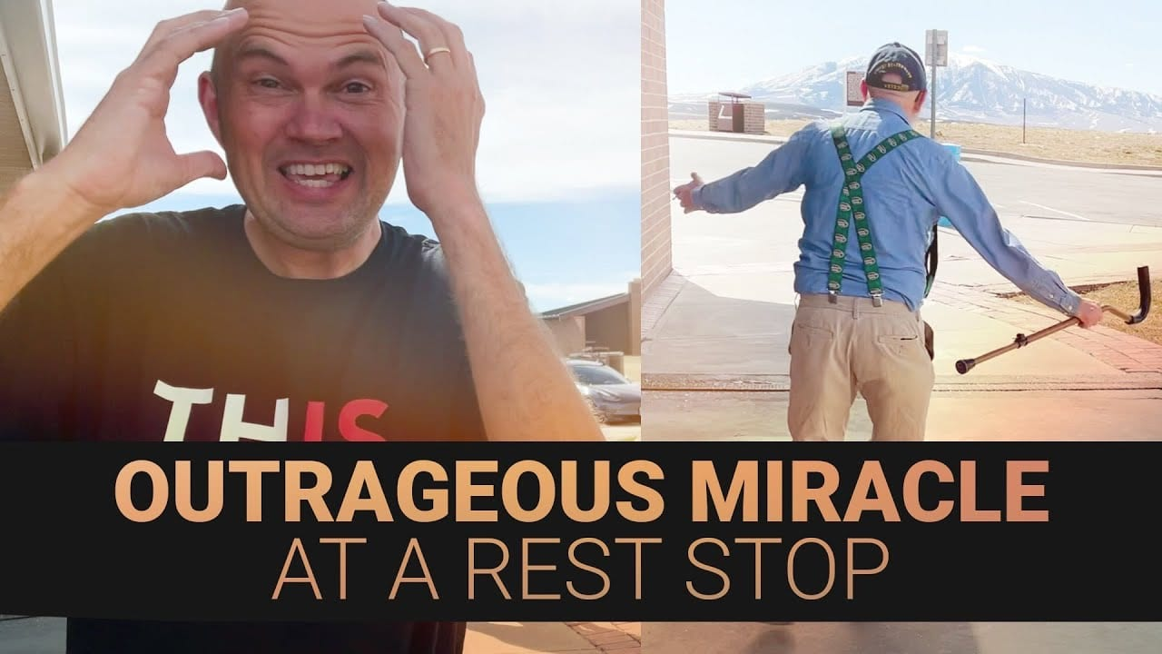 AMAZING MIRACLE AT REST STOP – 42 YEARS OF PAIN GONE! – MAN CAN'T BELIEVE HE CAN WALK WITHOUT PAIN!